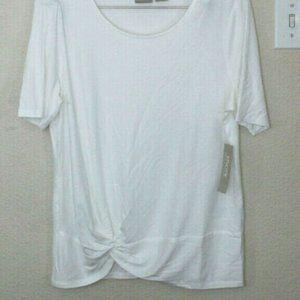 Chico's Women's White Blouse Stretch Size-L